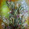 Blumen, Acrylmalerei, Pflanzen, Malerei