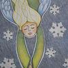 Winter, Schneeflocken, Engel, Zeichnungen