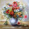 Ölmalerei, Blumen, Kamille, Blumenstrauß