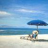 Sonnenschirm, Hut, Urlaub, Strand