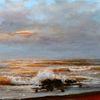 Urlaub, Himmel, Ölmalerei, Die welle