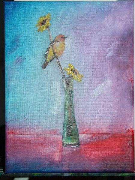 Vogel, Malerei