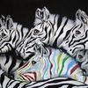 Afrika, Bunt, Tiere, Malerei