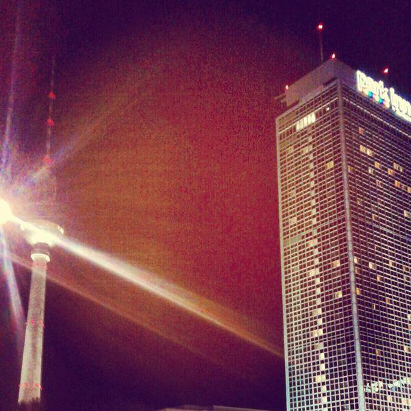 Architektur, Hauptstadt, Licht, Alexanderplatz, Nacht, Berlin