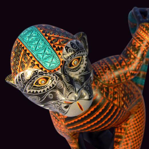 Affe, Jacobo angeles, Mexikanische künstler, Holzfigur, Holzskulptur, Mexiko