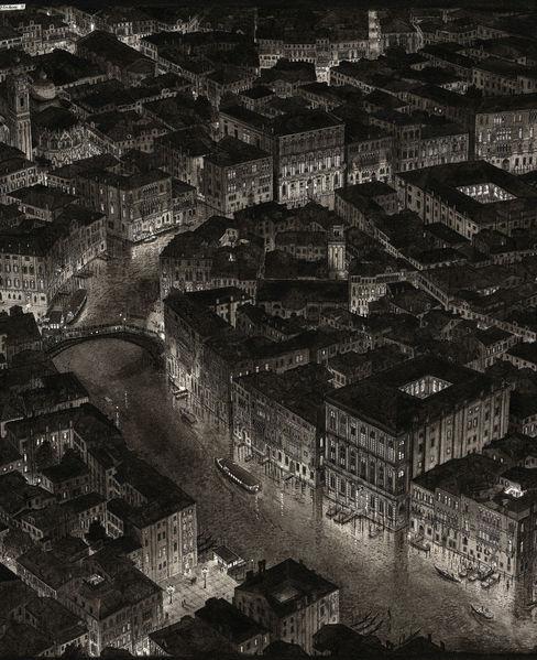 Perspektive, Realismus, Dämmerung, Nacht, Schwarz weiß, Italien