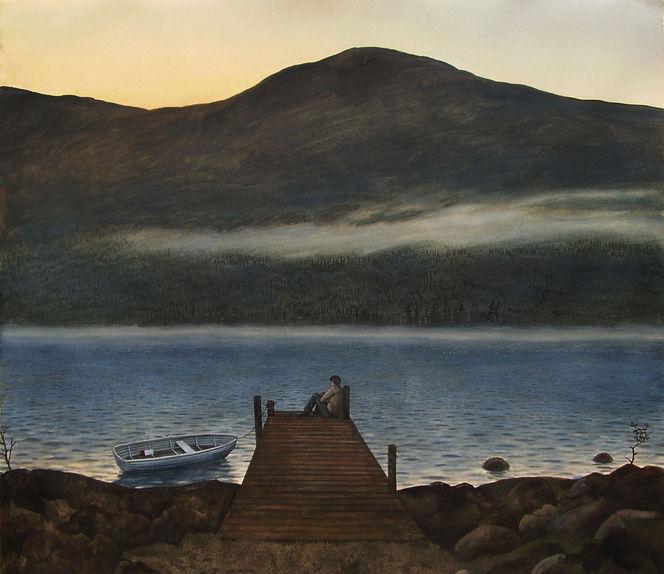 Realismus, Aquarellmalerei, Wasser, Natur, Landschaft, Licht