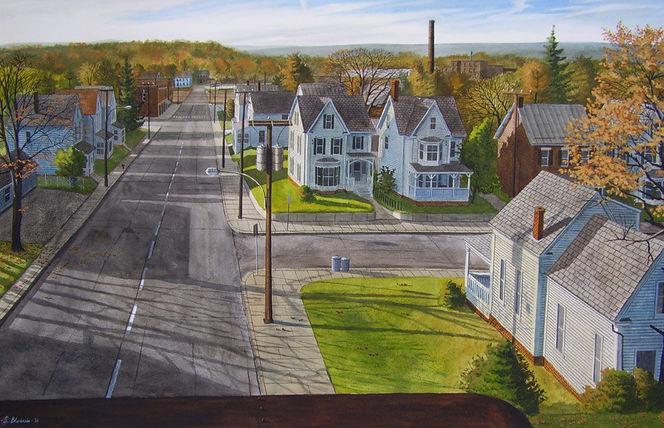 Landschaft, Grün, Realismus, Aquarellmalerei, Licht, Usa