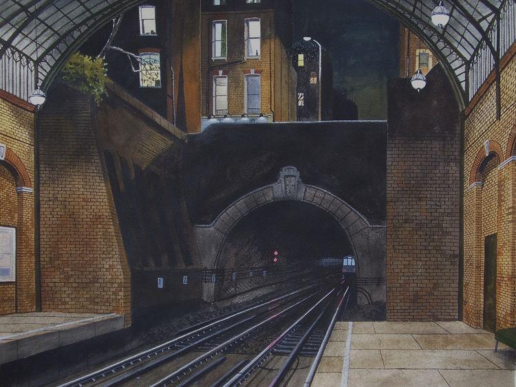 Licht, Abend, Gemälde, Realismus, Regen, London