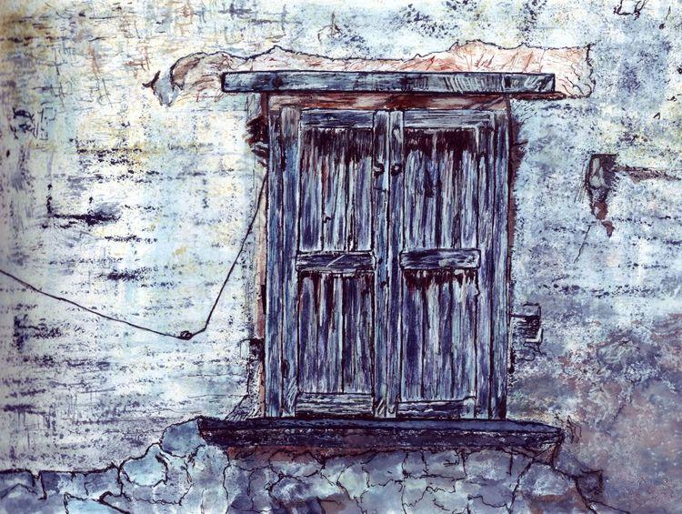Mauer, Fenster, Alt, Morsch, Zeichnungen
