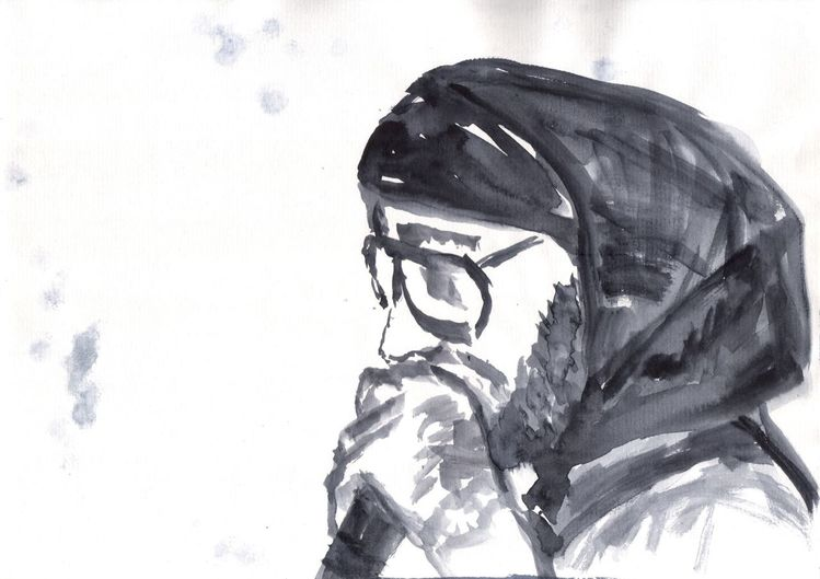 Zeichnung, Schwarz weiß, Menschen, Zeichnungen,