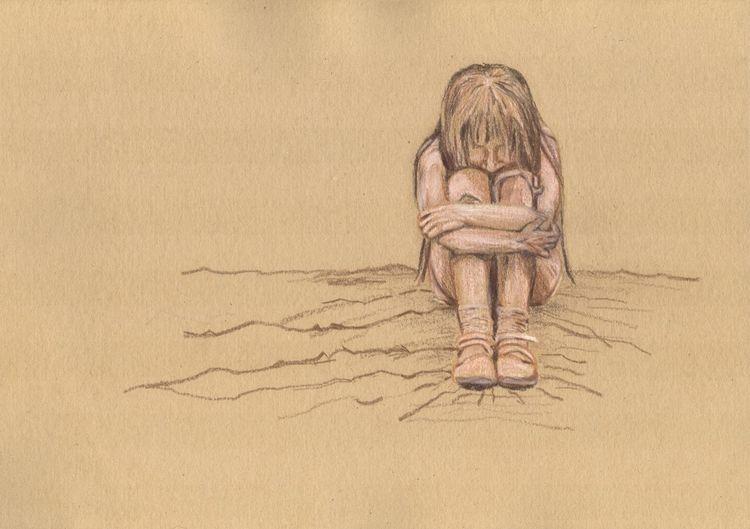 Trauer, Schuhe, Kind, Schule, Zeichnungen, Worte