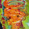 Orange, Wasserfarben, Luda, Violett