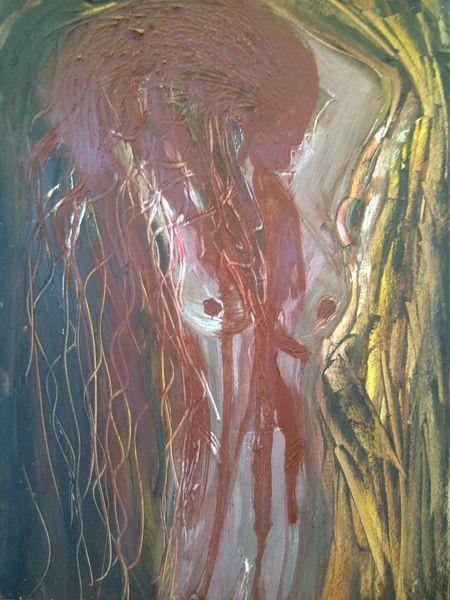 Red blood, Tränen, Ölmalerei, Gesicht, Seele, Blut
