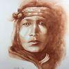 Indianer aquarell, Indianer, Aufgewühlt, Portrait