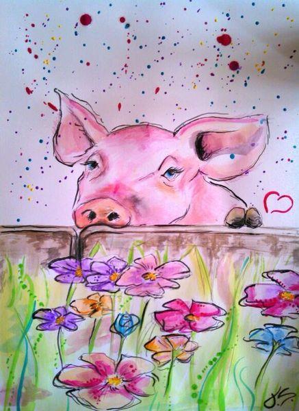 Tiere, Vegetarismus, Zeichnung, Comic, Veganismus, Bunt