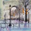 Paris, Bogen, Triomphe, Malerei