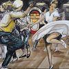 Acrylmalerei, Rockn roll, Tanz, Malerei