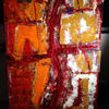 Tapete, Acrylmalerei, Spachteltechnik, Holz