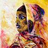 Malerei, Mädchen, Afrika