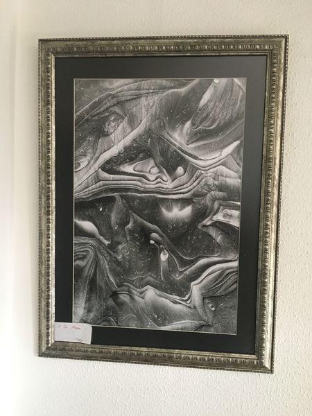 Abstrakt schwarz weiß, Surreal, Nonfigurative, Malerei