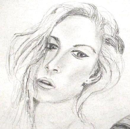 Skizze, Bleistiftzeichnung, Frau, Zeichnungen