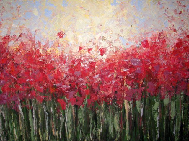 Landschaftsmalerei impressionismus  Bild: Sommer, Blumenwiese, Natur, Impressionismus von Birgit Braun ...
