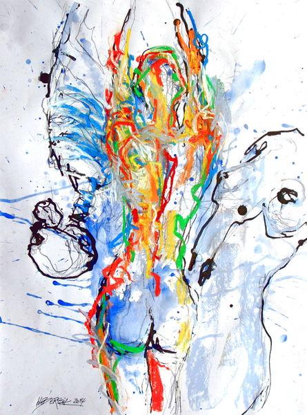 Pastellmalerei, Blau, Grün, Zeichnung, Rot, Menschen