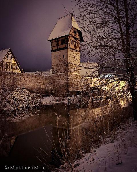 Bäuerlinsturm, Dinkelsbühl, Winter, Fotografie