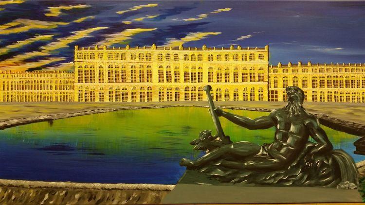 Versailles, Paris, Frankreich, Gebäude, Acrylmalerei, Architektur
