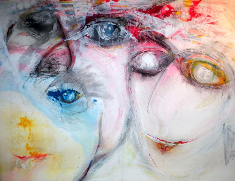 Sehnsucht, Blau, Menschen, Glaube, Gefühl, Gesicht