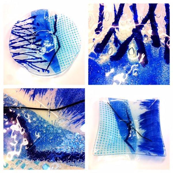 Glasschalen, Design, Glasesign, Abstrakt, Glas, Kunsthandwerk