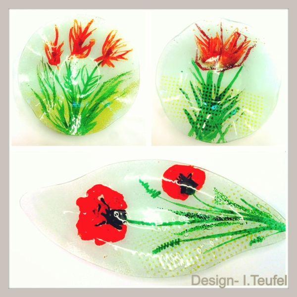 Rot, Design, Glasschalen, Glasdesign, Glas, Blumen