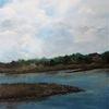 Wolken, Wasser, Landschaft, Acrylmalerei