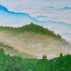 Acrylmalerei, Landschaft, Sauerland, Malerei