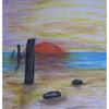 Malerei, Sonnenuntergang, Strand
