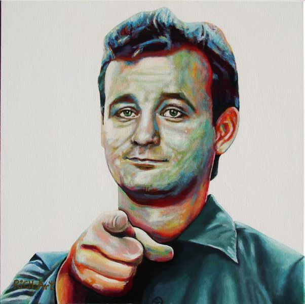 Bill murray, Re awesome, Portrait, Acrylmalerei, Malerei,