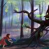 Wald, Mädchen, Waldgeist, Frühling