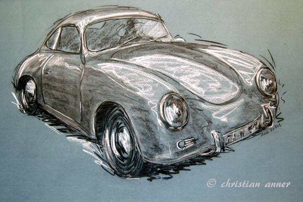 Sport, Porsche, Zeichnungen, Oldtimer,