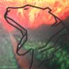 Amazonas, Feuer, Wald, Malerei