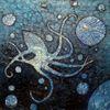 Krake, Ozean, Wasser, Malerei