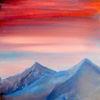 Abend, Berge, Himmel, Wolken