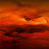 192. Abendhimmel - Himmel,Abendrot,Sonnenuntergang,Acryl