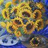 Stillleben, Gelb, Blumen, Malen
