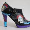 Bemalte schuhe, Schuhe, Acrylmalerei, Halloween