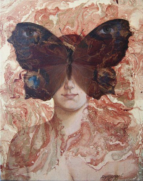 Malerei, Ölmalerei, Gemälde, Abstrakt, Schmetterling