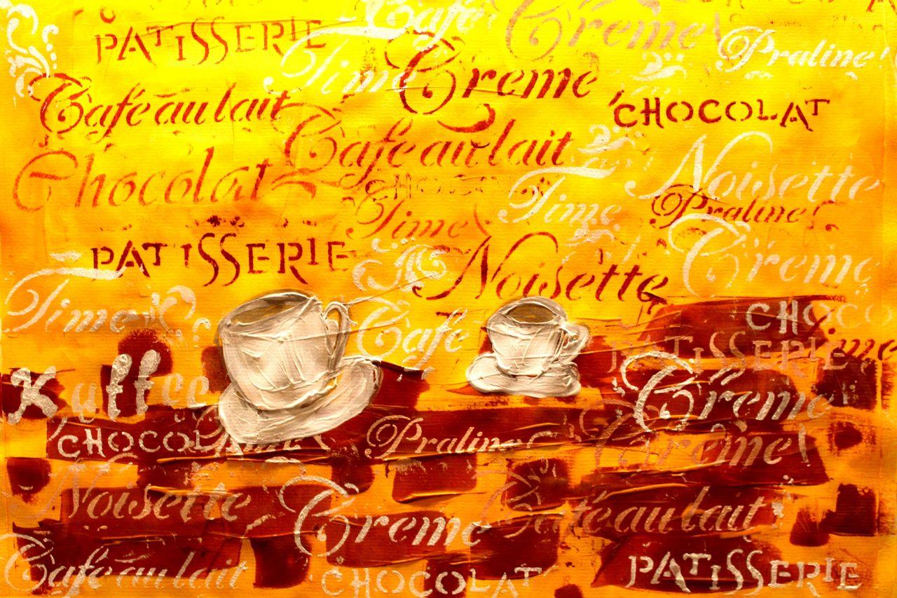 bild: einladung zum kaffee, gefühl, abstrakt, modern von dreamgirl, Einladung
