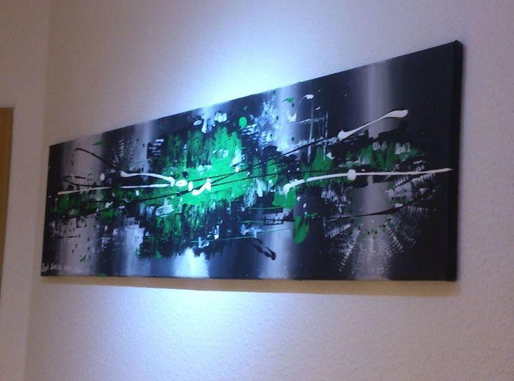 Malerei, Acrylmalerei, Abstrakt, Grün