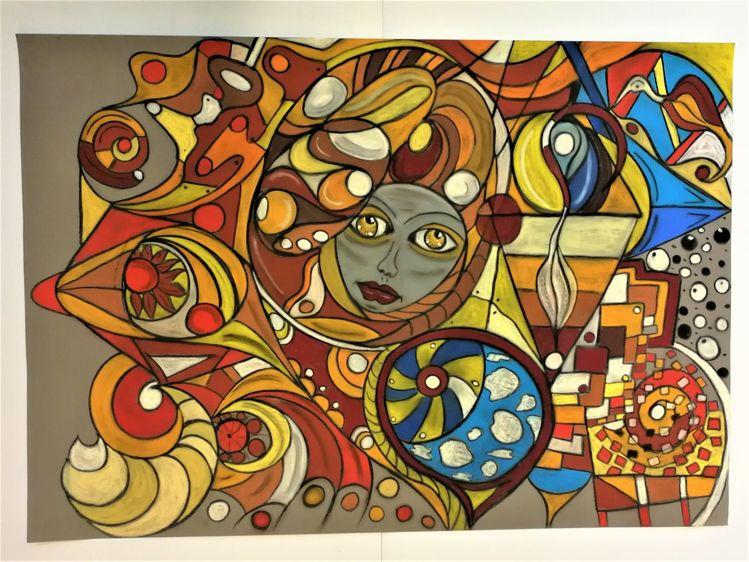 Abstrakt, Bunt, Kopf, Fantasie, Rund, Gesicht