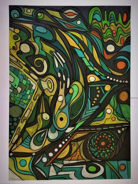 Bunt, Fantasie, Gestaltung, Wortlos, Abstrakt, Malerei